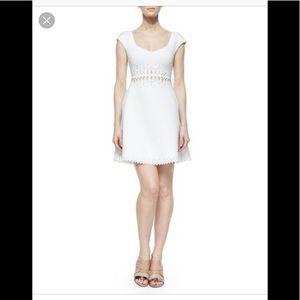 Clover Canyon White Lasercut Dress. NWT size XS.